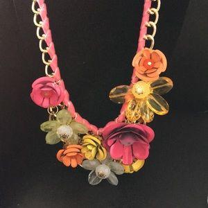 New Romeo & Juliet 3 D Floral Statement  Necklace